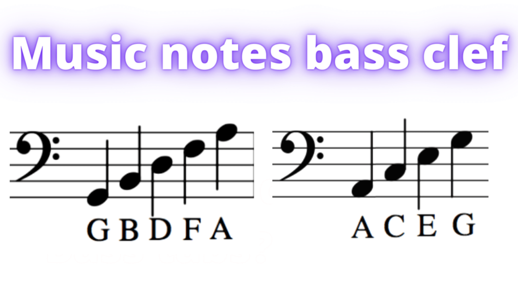 music notes in the bass clef