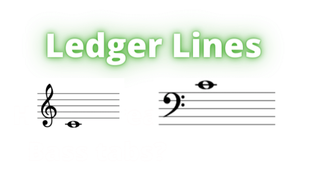 bass and treble clef ledger lines